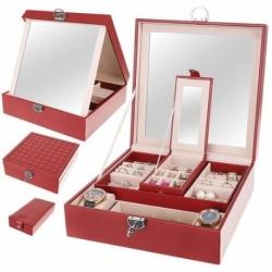 Papuošalų dėžutė su veidrodžiu D3